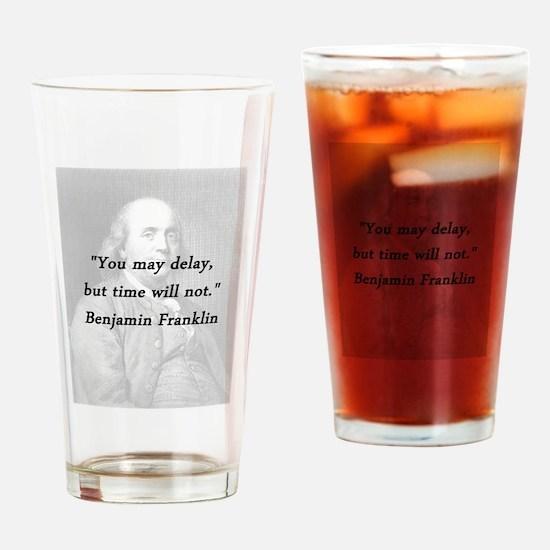 Franklin - Delay Drinking Glass