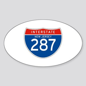 Interstate 287 - NJ Oval Sticker