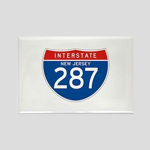 Interstate 287 - NJ Rectangle Magnet