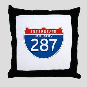 Interstate 287 - NJ Throw Pillow