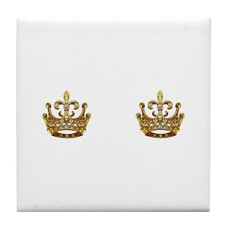Fleur de lis Crown Jewels Tile Coaster