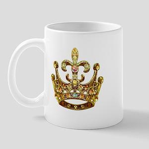 Fleur de lis Crown Jewels Mug