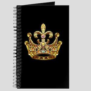 Fleur de lis Crown Jewels Journal