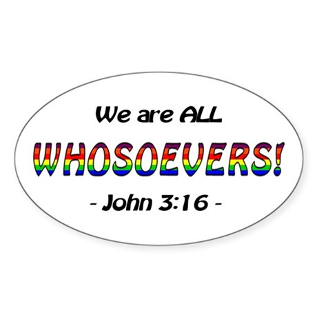 Whosoevers, All Oval Sticker