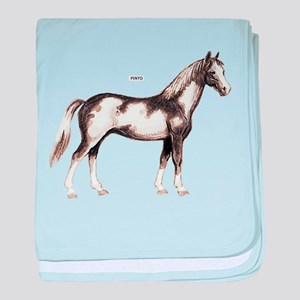Pinto Horse baby blanket