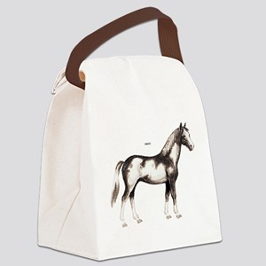 Pinto Horse Canvas Lunch Bag