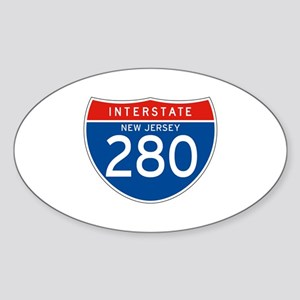 Interstate 280 - NJ Oval Sticker