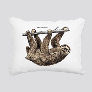 Three-Toed Sloth Rectangular Canvas Pillow