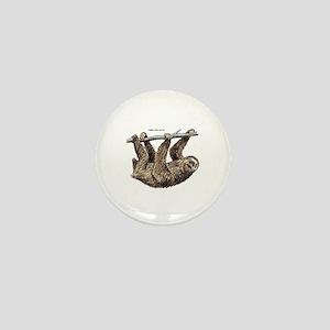 Three-Toed Sloth Mini Button