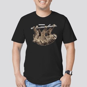 Three-Toed Sloth Men's Fitted T-Shirt (dark)