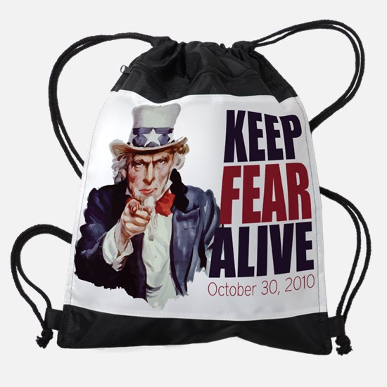 Uncle-Sam---Keep-Fear-Alive.png Drawstring Bag