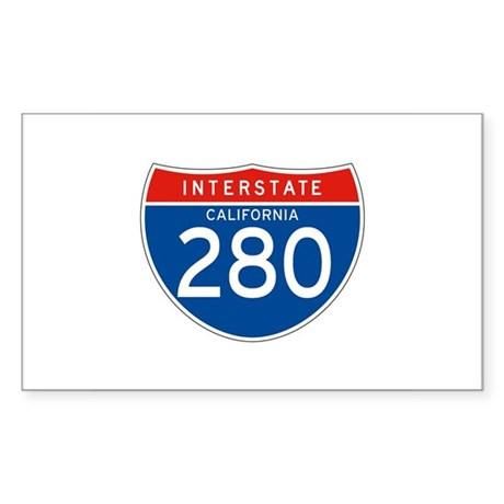Interstate 280 - CA Rectangle Sticker