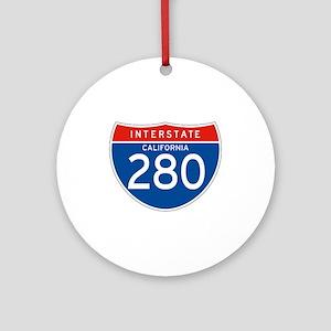 Interstate 280 - CA Ornament (Round)