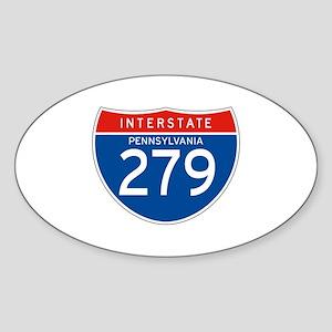 Interstate 279 - PA Oval Sticker