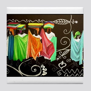 Market Haiti Art Tile Coaster