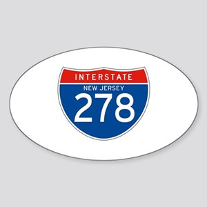 Interstate 278 - NJ Oval Sticker
