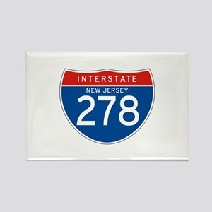 Interstate 278 - NJ Rectangle Magnet