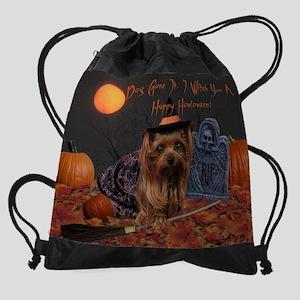 Yorkie - Halloween- Drawstring Bag