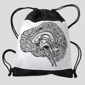 Science Geek Brain Drawstring Bag