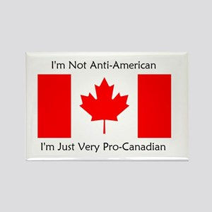 Pro-Canadian Rectangle Magnet