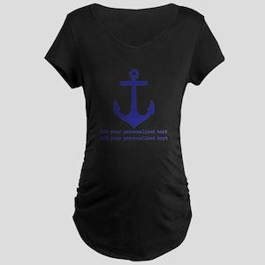 Nautical Anchor Maternity T-Shirt