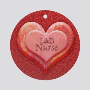 I heart L&D Nurse Ornament (Round)