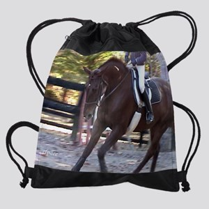 Horse and Rider Calendar Drawstring Bag