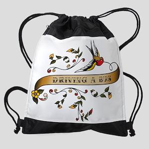 wg134_Driving-a-Bus Drawstring Bag