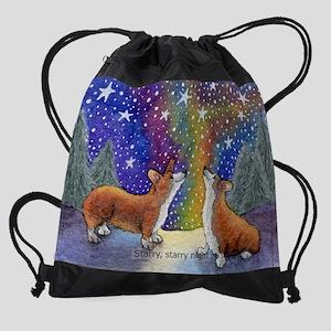 CORCAL1 - Dec - Starry, starry nigh Drawstring Bag