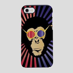 Cool Chimpanzee in 3d Glasses iPhone 7 Tough Case