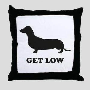 Get Low Throw Pillow