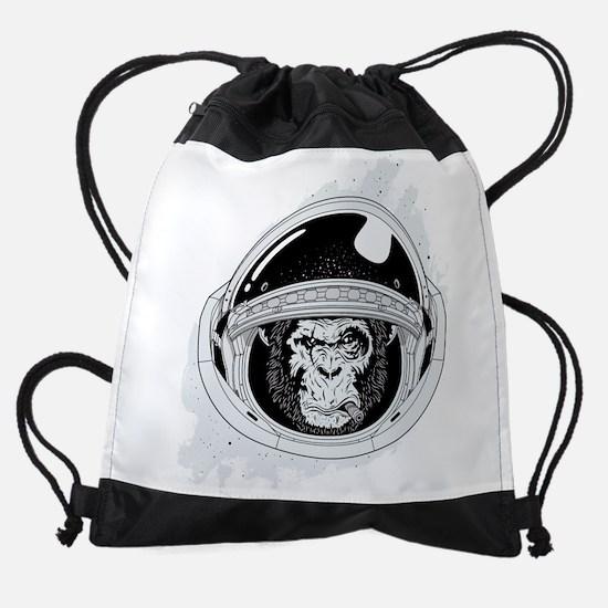 Space Chimp Drawstring Bag
