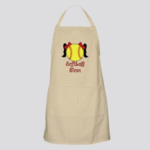 Softball mom black hair Apron