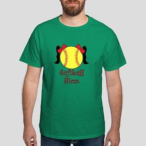 Softball mom black hair T-Shirt