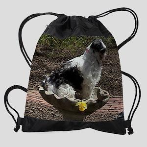 Funny Shih tzu Dog Bird Bath Drawstring Bag