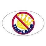 NO KING Oval Sticker