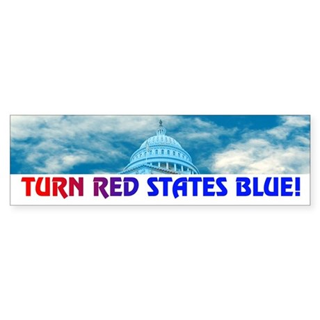 TURN RED STATES BLUE! Bumper Sticker