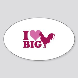 I Love Big Sticker (Oval)