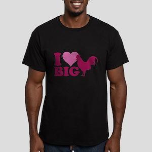 I Love Big Men's Fitted T-Shirt (dark)