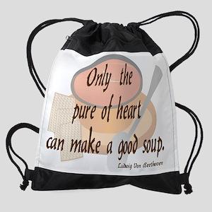 20x16soup_tomato Drawstring Bag