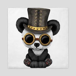 Cute Steampunk Baby Panda Bear Cub Queen Duvet