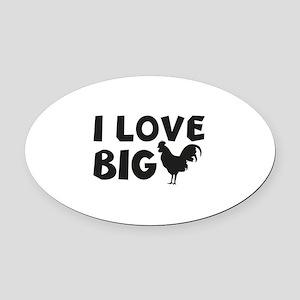 I Love Big Oval Car Magnet