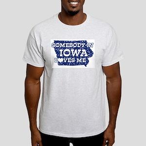 Somebody in Iowa Loves Me Ash Grey T-Shirt