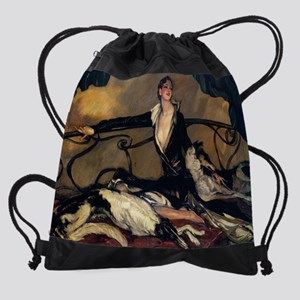 1930 Oil by Jean-Gabriel Domergue ( Drawstring Bag