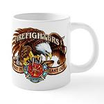 Firefighter Eagle 20 Oz Ceramic Mega Mug Mugs