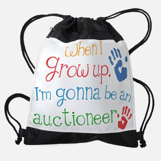 Future Auctioneer Drawstring Bag