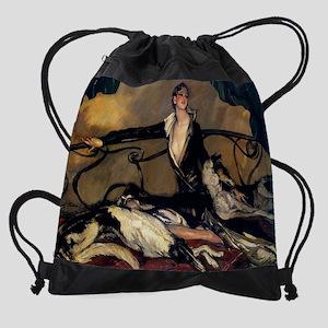 2-1930 Oil by Jean-Gabriel Domergue Drawstring Bag