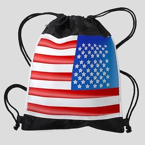 My American Flag Drawstring Bag