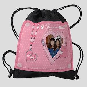 DreamComeTrue girls calendar EXAMPL Drawstring Bag
