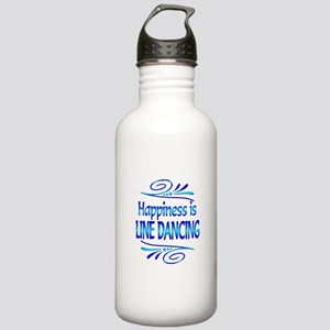 Happiness is Line Dancing Stainless Water Bottle 1